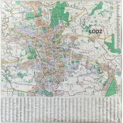 M-DR Łódź 1:20 tys. Jokart Mapa ścienna 124x125cm