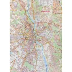M-DR Warszawa 1:26 tys. Jokart Mapa ścienna 88x120cm