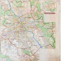 M-DR Warszawa 1:18 000 Jokart Mapa ścienna 182x182