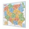 Polska Administracyjna 110x100cm. Mapa magnetyczna.