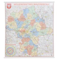 M-DR Woj. Mazowieckie 1:225 tys. Jokart Mapa ścienna