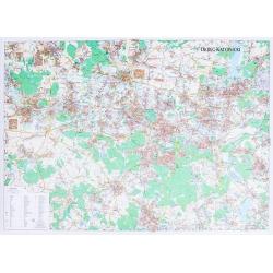Okręg Katowicki 132x94 cm. Mapa ścienna.