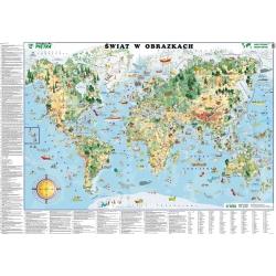 M-DR Świat w obrazkach dla dzieci Pietka Mapa ścienna 148x98cm