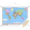 Świat Polityczny 134x86cm. Mapa ścienna.
