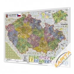 Czechy 137x95 cm. Mapa do wpinania.