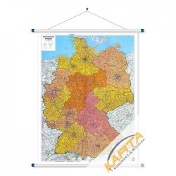 Niemcy kodowa 106x128cm. Mapa ścienna.