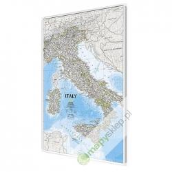 Włochy 64,5x87cm. Mapa magnetyczna.
