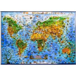 M-DR Świat Zwierząt dla dzieci Expresssm Mapa ścienna 137x97cm