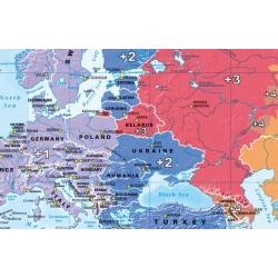 Świat polityczny/strefy czasowe 140x80cm. Mapa magnetyczna.