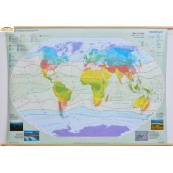 Świat strefy klimatyczne 166x114cm. Mapa ścienna.