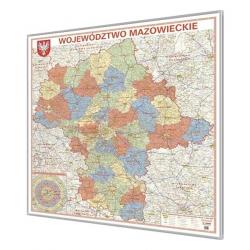 Mazowieckie 125x135 cm. Mapa magnetyczna.