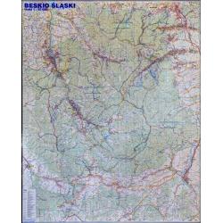 Beskid Śląski Plan.Mapa ścienna