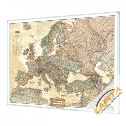 Europa Polityczna exclusive 75x60 cm. Mapa w ramie aluminiowej.