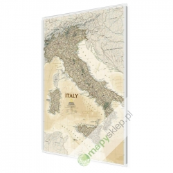 Włochy ekskluzywna 65x88cm. Mapa do wpinania.