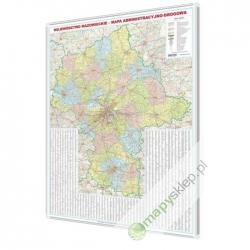 Mazowieckie administracyjno-drogowa 146x174cm. Mapa do wpinania.
