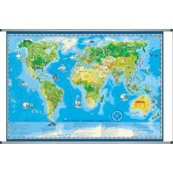 Świat dla dzieci 140x100cm.Mapa ścienna