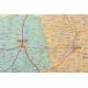 Podlaskie administracyjno-drogowa 97x135cm. Mapa z ekspozycji w ramie aluminiowej.