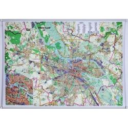 Wrocław 134x92cm. Mapa ścienna.