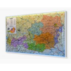 Austria administracyjno-drogowa 103x59 cm. Mapa w ramie aluminiowej.