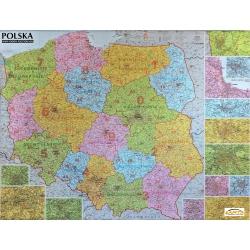 Polska Kodowa 126x97cm. Mapa ścienna.