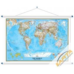 Świat Polityczny 116x78cm. Mapa ścienna.