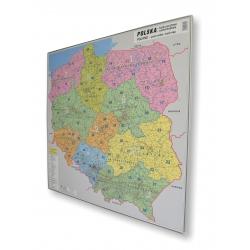 Polska kodowo-drogowa 100x96cm. Mapa w ramie.
