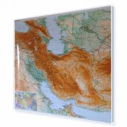Narożnik mapy Iraku, Iranu, Azerbejdżanu, Turkmenistanu, Pakistanu, Afganistanu, Kirgistanu, Kataru, Kuwejtu i pozostałych obsza
