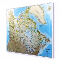 Kanada 105x83 cm. Mapa w ramie aluminiowej.