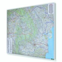 Rumunia i Mołdawia drogowa 125x95 cm. Mapa w ramie aluminiowej.