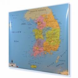 Korea Południowa 113x98 cm. Mapa w ramie aluminiowej.