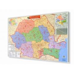 Rumunia Kodowa 100x70 cm. Mapa w ramie aluminiowej.