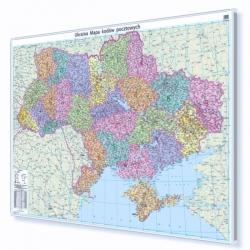 Ukraina 140x100 cm. Mapa w ramie auminiowej.