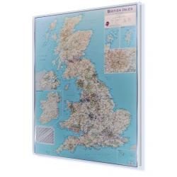 Wielka Brytania 88x120 cm. Mapa w ramie aluminiowej.