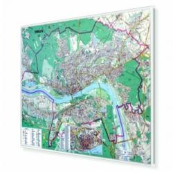 Plan Torunia 153x108 cm. Mapa w ramie aluminiowej.