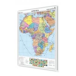 Afryka polityczna 106x140cm. Mapa w ramie aluminiowej.