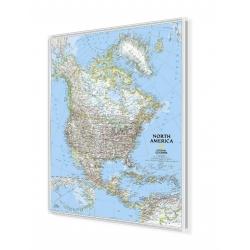 Ameryka Północna 96x118cm. Mapa w ramie aluminiowej.
