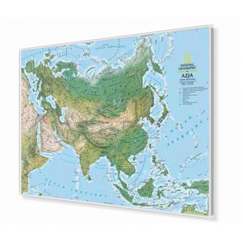 Mapa W Ramie Alu Eurazjaeuropa I Azja Fizyczna 192 Mln155x115ng