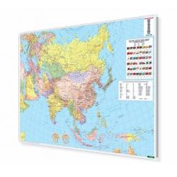 Azja polityczna 163x120cm. Mapa w ramie aluminiowej.