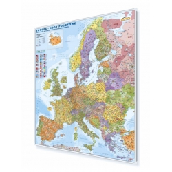 Europa kodowa 104x114cm. Mapa w ramie aluminiowej.