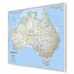 Australia 81x70cm. Mapa w ramie aluminiowej.