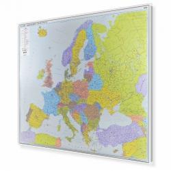 Europa Kodowa 154x120cm. Mapa w ramie aluminiowej.