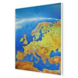 Europa Fizyczna, Panorama 110x150cm. Mapa w ramie aluminiowej.