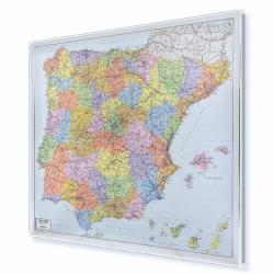 Hiszpania i Portugalia. Kodowa 100x90 cm. Mapa magnetyczna.