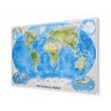 Świat Fizyczny 172x116 cm. Mapa magnetyczna.