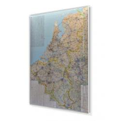 MAG Benelux Drogowa 1:375 tys. Way-Ok Mapa magnetyczna 98x126cm