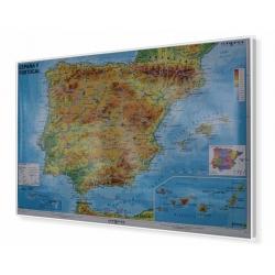 Hiszpania i Portugalia fiz.1:1,3mln Mapa magnetyczna 140x100cm Stiefel