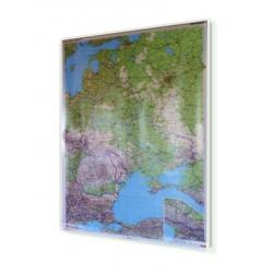 Europa Wschodnia, Rosja, Wspólnota Niepodległych Państw polityczno-drogowa 94x123cm. Mapa ścienna