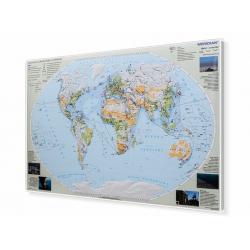 Świat - degradacja środowiska 160x120cm. Mapa magnetyczna.