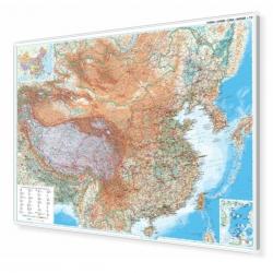 Chiny Fizyczna 130x90cm. Mapa magnetyczna.