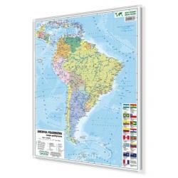Ameryka Południowa polityczna 104x140cm. Mapa magnetyczna.